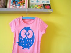 Effie maakt: owl screen print on shirt