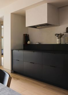 It Takes Two: A Pair of Brooklyn Heights Apartments Reconfigured Into One, by Shapeless Studio - Remodelista Studios Architecture, Interior Architecture, Interior Design, Kitchen Interior, Kitchen Design, Brooklyn Kitchen, Rammed Earth Homes, Dining Room Storage, Brooklyn Heights