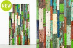 "Cahaya Deco Panel - LR001   Rustic artwork created from retired fishing boat wood   W39.25"" x H78.75"" #reclaimed #boatwood #art #walldecor #home #kingheadboard"