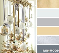 Silver and gold winter wedding color palette | fab mood