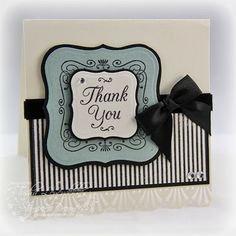 Stamp Talk with Tosh: A Square Thank You