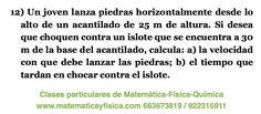 Ejercicios de física: tiro horizontal