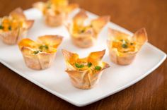Buffalo chicken wontons...I would use low carb tortillas