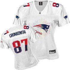 Reebok New England Patriots #87 Rob Gronkowski White 2011 Womens Fem Fan Jersey
