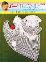 Emu 8616 - baby shawl and matinee coat set - vintage crochet pattern