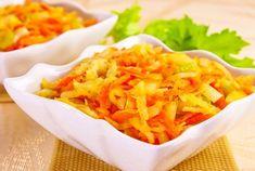 SALATĂ de GULIE, MORCOV și MĂR - puternic ANTI-CANCERIGENĂ și DETOXIFIANTĂ | La Taifas Cold Vegetable Salads, Healthy Salad Recipes, Natural Remedies, Macaroni And Cheese, Carrots, Cake Recipes, Cabbage, Vegan, Dinner