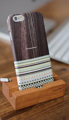 Ethnic wood case / Phone case / iPhone acc