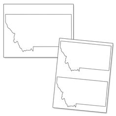 Printable Shape of Montana from PrintableTreats.com