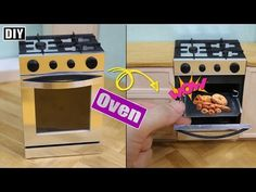DIY How To Make Oven!! - Dollhouse Oven 미니어쳐 주방꾸미기 - 오븐편!! - YouTube