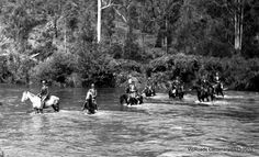 1915 McKellar's Crossing Snowy River (Orbost, Vic.) VicRoads Centenary 1913-2013. Victorian Photos, Victoria Australia, Its A Wonderful Life, First Nations, House Party, Colonial, Melbourne, Past, Dolores Park