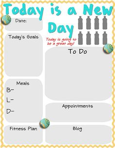 Print this out and put it in a picture frame... Instant Organizational Dry Erase Board