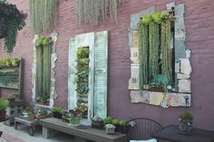 Vertical Succulent Wall Art at Succulent Cafe Oceanside via Needles +  Leaves