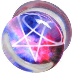 "Plug ""Galaxy Pentagram"" del brand #Wildcat. Materiale: acrilico. Ø: 8, 10, 12, 14, 16, 18, 20 mm."