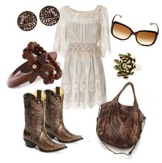 """""""Lace and Boots"""" by ambiegirl ❤ liked on Polyvore"""