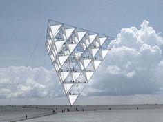 tomas saraceno's solar bell floating sculpture takes flight - designboom | architecture & design magazine