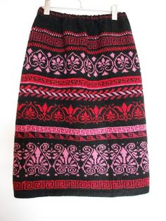 Осинка Перуанское дыхание осени - жаккардовые юбки спицами