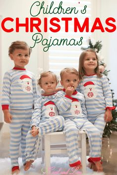 0351aa685a Adorable Matching Kids Christmas PJs at Cecil and Lou. Shop these precious  children s Christmas pajamas