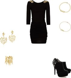 """party"" by anacaroh ❤ liked on Polyvore"