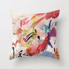 Abstract Throw Pillow by Sweaty Pocari | Society6