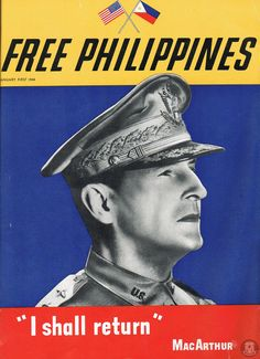 Cover of the January 1944 Free Philippines Magazine issue featuring Douglas MacArthur. Douglas Macarthur, Historical Pictures, Philippines, January, Magazine, Cover, Movie Posters, Free, Film Poster