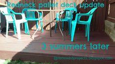 Reduce, Reuse, Renewed: Redneck Pallet Deck 3 Summers Later