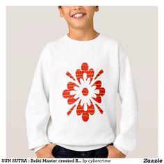 SUN SUTRA : Reiki Master created RED SHADE energy Sweatshirt