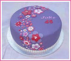 Afbeeldingsresultaat voor taart in roze paars