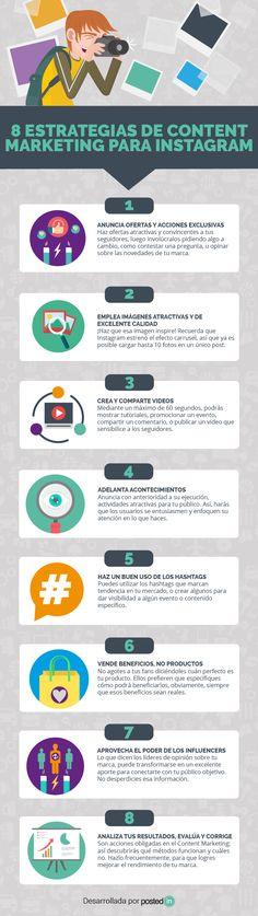 8 estrategias de marketing de contenidos para Instagram