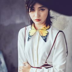 Butterfly Collar Blouse (S-L)