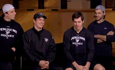 Sidney Crosby interview with Geno, flower, and kris letang.