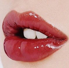 Consider the rouged and glitter dusted lip.