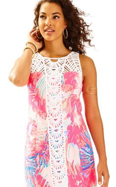 08f0b29b933e23 The Tana Shift is a printed shift with beautiful white soutache details.  This dress is. Lilly Pulitzer
