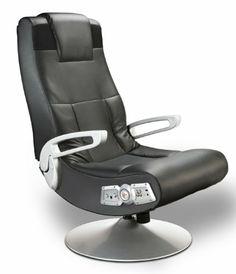 Ace Bayou X Rocker Pedestal Video Game Chair - Black #chair #rocker #videogame #design