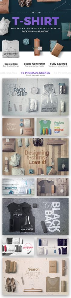 T-shirt Mockups and Packages - Hero Images Scene Generator Mockup Generator, Pack And Ship, Web Design Trends, Shirt Mockup, Generators, Scene Creator, Photo Colour, Hero, The Originals