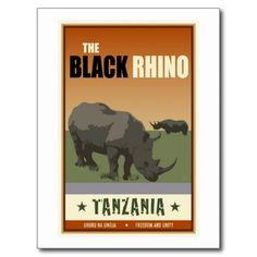 Tanzania The Black Rhino Created By skibbyb : Santa Fe, New Mexico, United States
