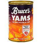Bruce's Cut Yams, 15-oz. Cans