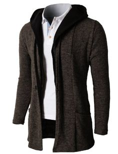 H2H Mens Hoodie Cardigan Sweater With Two Tone Color Hoodie BROWN US L/Asia XL (KMOCAL074) H2H http://www.amazon.com/dp/B00IFZVL3C/ref=cm_sw_r_pi_dp_mD-wub154V19Q