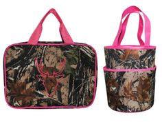 Camouflage & Pink Make-up Bag and Shower Caddy