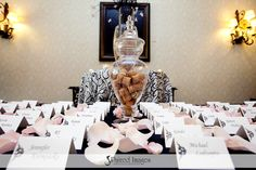 card table... corks from the champagne theme bridal shower