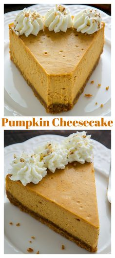 Classic Pumpkin Pie Cheesecake - Baker by Nature Classic Pumpkin Pie Cheesecake<br> Ultra creamy and richly spiced Classic Pumpkin Pie Cheesecake! This is perfect for the holiday table. Brownie Desserts, Oreo Dessert, Mini Desserts, Bon Dessert, Pumpkin Dessert, Dessert Recipes, Healthy Desserts, Best Pumpkin Cheesecake Recipe, Cheesecake Pie