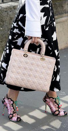 Sophia Webster ~ Shoes + Dior ~ Quilted Leather Bag