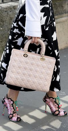 Sophia Webster ~ Shoes + Dior ~ Quilted Leather Bag
