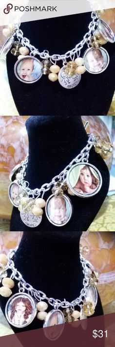 Personalized Photo Bracelet I make personalized bracelets with your own images. This personalized bracelets make beautiful and memorable Christmas Gifts. Jewelry Bracelets