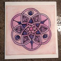 Hand painted mandala greeting card by PrimalPulseDesigns on Etsy Compass Tattoo, Mandala, My Etsy Shop, Greeting Cards, Hand Painted, Pictures, Painting, Photos, Photo Illustration