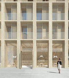 240no. apartments in new mixed-use development - Frihamnen, Stockholm, Sweden - massive wood technique - specialized wood construction developer Folkhem - Tham & Videgård