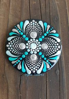 Acrylic painted magnet wood magnet hand painted magnet fridge magnets wood art mandala style u art diy art easy art ideas art painted art projects Rock Painting Patterns, Dot Art Painting, Rock Painting Designs, Mandala Painting, Pebble Painting, Pebble Art, Stone Painting, Mandala Art Lesson, Mandala Painted Rocks