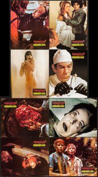 "Horror Hospital (Antony Balch Films, 1973). German Lobby Cards (21) (9.25"" X 11.5"") & Promos (2) (8.5&..."