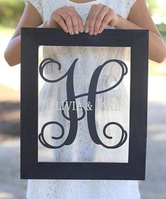 Initial & First Names Personalized Wall Sign