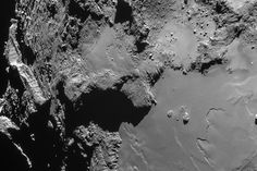 Rosetta Probe Snaps Awesome Comet Photo in Harrowing Close Encounter Comet 67P/Churyumov-Gerasimenko Seen from 9.5 Miles March 4th, 2015 Europe's Rosetta spacecraft recently beamed back an amazing photo of its comet taken during a risky, close flyby of the dusty cosmic body.