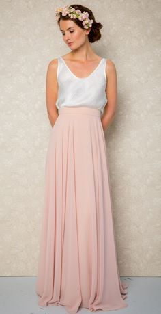 bridesmaid skirt and crop top - Google Search #TulleSkirts